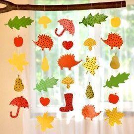 Herbstketten Pdf Jó Basteln Herbst Fensterbild Basteln