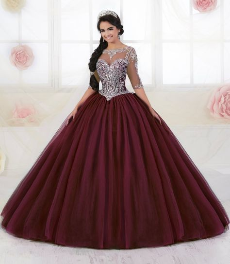 6a5f6f7e19b Long Sleeved Quinceanera Dress by Fiesta Gowns 56354 (Size 14 - 26)-House  of Wu Fiesta Gowns-ABC Fashion