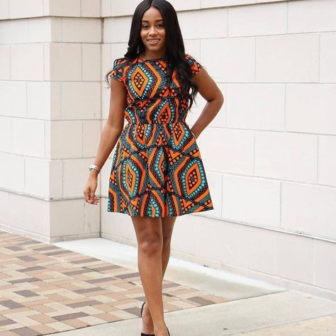 Simple Ankara Gown Style 😍 Dress b