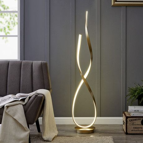 Finesse Decor Beautifully Sculptural Led Lighting Touch Of Modern Novelty Floor Lamp Gold Floor Lamp Modern Floor Lamps