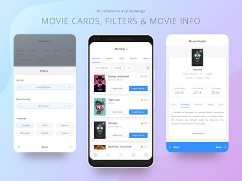 Bookmyshow App Redesign