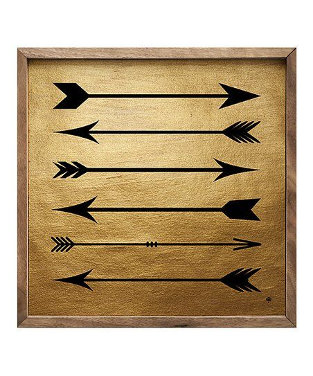 Kendrick Home Gold Black Arrows Wood Wall Art Zulily Arrow Wall Art Art Wood Wall Art