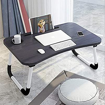 Amazon Com Laptop Desk Laptop Bed Tray Foldable Laptop Stand Small Dormitory Table Breakfast Serving Bed T Laptop Table Laptop Desk For Bed Bed Tray Table