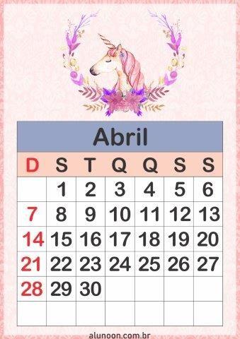 Calendario Unicornio 2019 Para Impirmir Aluno On Com Imagens