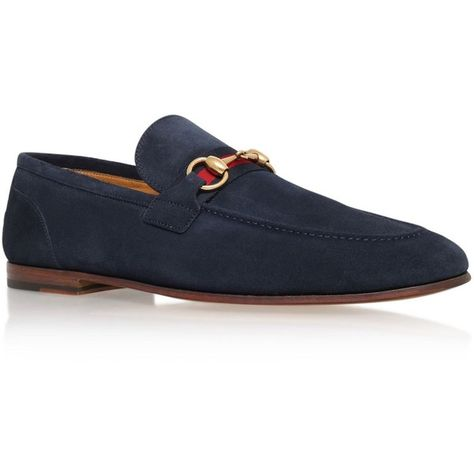 f5864ef95 Gucci Horsebit Suede Loafer (£455) ❤ liked on Polyvore featuring men's  fashion,