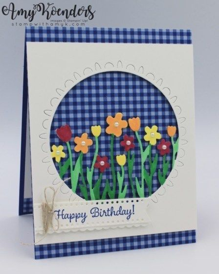 Photo of Stampin' Up! Little Ladybug With Sending Flowers Dies Birthday Card