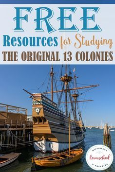 Are you studying about the Original 13 Colonies this year? Check out these FREE resources including printables, online studies, virtual field trips & books to create a unique and fun history study for your homeschool. Social Studies Notebook, Teaching Social Studies, Teaching History, History Education, Social Studies Activities, American History Lessons, Us History, History Class, 13 Colonies Map