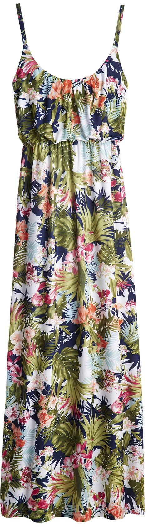 cute floral plus size maxi dress for travel & beach vacays - http://www.boomerinas.com/2012/09/30/knit-jersey-dresses-travel-wear-for-women-over-40-or-50/