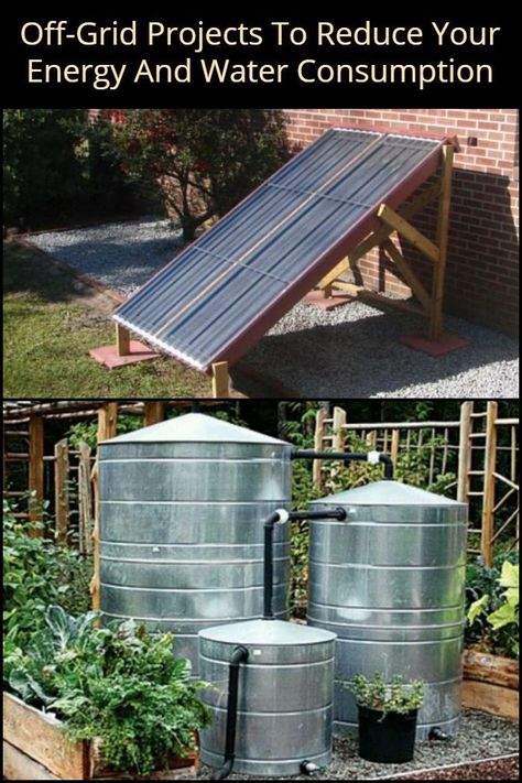 8 Off-Grid Projects to Reduce Your Energy And Water Consumption Renewable Energy, Solar Energy, Solar Power, Off Grid House, Off Grid Cabin, Off The Grid Homes, Off Grid Survival, Survival Prepping, Survival Skills