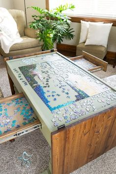Diy Puzzle Game Table Home Projects Furniture Home Decor
