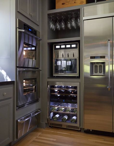Modern Kitchen Design with Luxury Appliances keepin it classy --- seriously, check out that winerator!