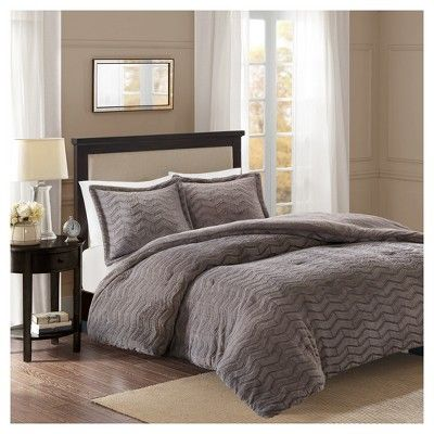 Kaplan Brushed Long Faux Fur Comforter Mini Set Comforter Sets King Comforter Sets Bedding Sets