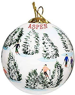 Amazon Com Art Studio Company Hand Painted Glass Christmas Ornament Skiing The Glade State Christmas Ornaments Christmas Ornaments Glass Christmas Ornaments