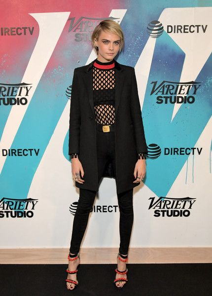 Cara Delevingne stops by DIRECTV House presented by AT&T during Toronto International Film Festival 2018.