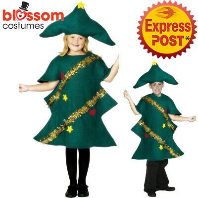 CK1352 Child Christmas Tree Funny Costume Christmas Novelty Fancy Dress Outfit