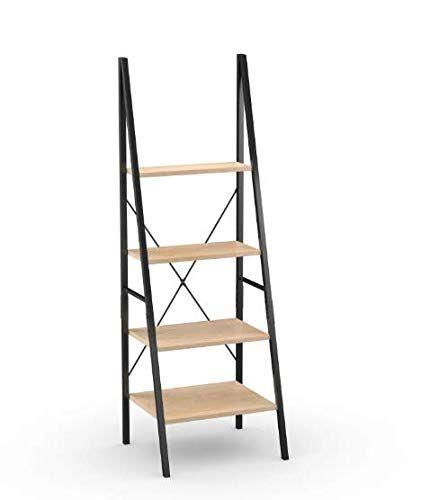 Carbon Loft Morse Industrial Ladder Bookshelf Brown Grey Ladder