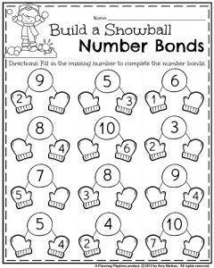 January Kindergarten Worksheets Number5 January Kindergarten Number Bonds Addition Work January Kindergarten Worksheets Kindergarten Math Numbers Kindergarten