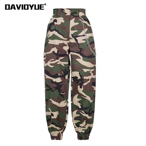 Cheap pants women army, Buy Quality military camouflage pants woman directly from China fashion pants women Suppliers: 2018 Fashion Chain Military Camouflage pants women Army black high waist loose Camo Pants Trousers Street Jogger sweatpants
