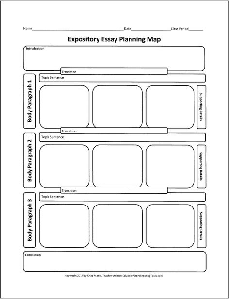 Free Graphic Organizers for Teaching Writing expository