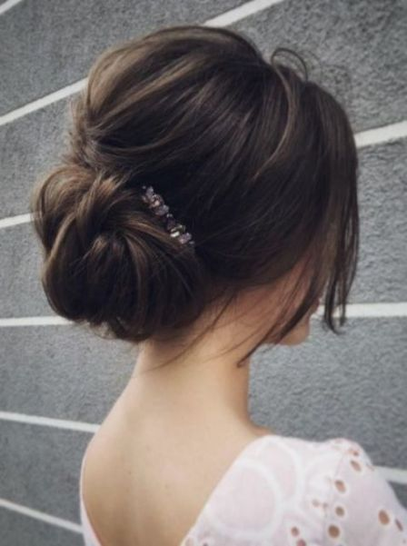 25 Chic Low Bun Hairstyles For Every Bride Wedding Hair Inspiration Elegant Wedding Hair Wedding Hairstyles Updo