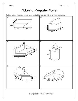 Volume Of Composite Figures Worksheet Rectangular Prisms