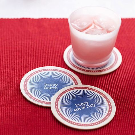 Party Favor: 4th of July Coasters