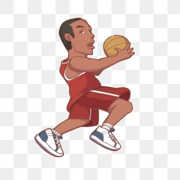 Hand Drawn Cartoon Basketball Player Hand Painted Cartoon Basketball Png Transparent Clipart Image And Psd File For Free Download Ball Drawing Clip Art Cartoon Clip Art