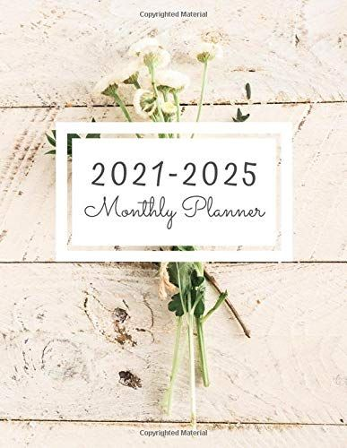 2021 2025 Monthly Planner 60 Monthly Calendar January 2021 December 2025 Address Book Letter Password Tracker R In 2020 Book Letters Planner Monthly Planner