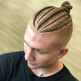 16++ Mens braids with shaved sides ideas