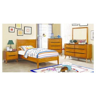 dawna mid century modern nightstand furniture of america golden
