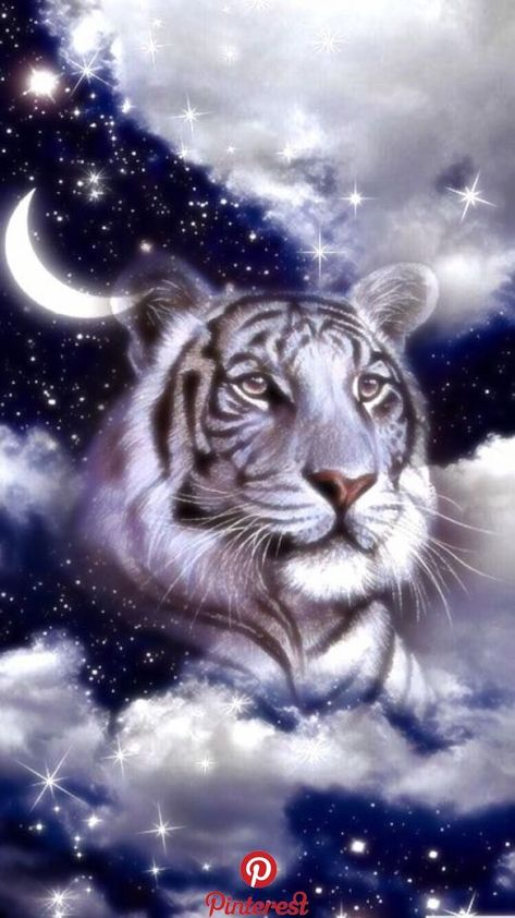 Wallpaper… By Artist Unknown… | Tiger | Pinterest | Tiger wallpaper, Siberian tiger and Cats