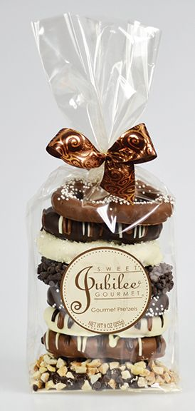 Chocolate Covered pretzel gift bag