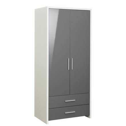 Buy Argos Home Brooklyn 2 Door 2 Drawer Tall Wardrobe Grey Kids Wardrobes Furniture Packages Drawers Tall Cabinet Storage