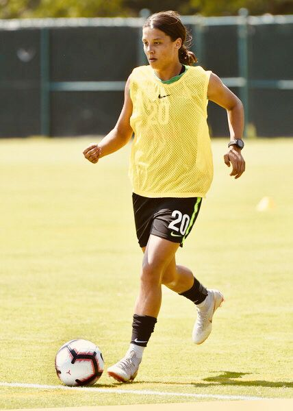 Samantha Kerr 20 Of Australia In Action During A Training Session For An Upcoming Match In The Tournament Of Na Upcoming Matches Womens Soccer Womens Football