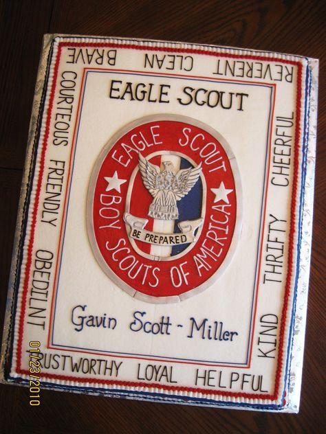 An Eagle Scout Celebration cake.