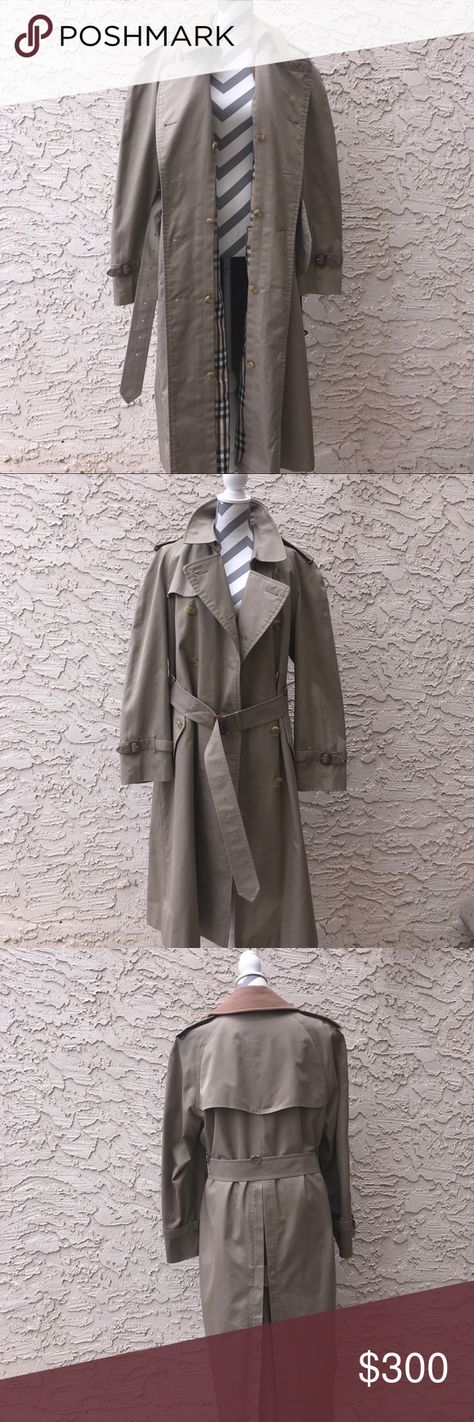 ????Sale????Men's Vintage Burberry Trench Coat   Burberry trench