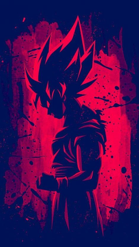 Dragon Ball Z Red Goku Iphone Wallpaper Iphone Wallpapers