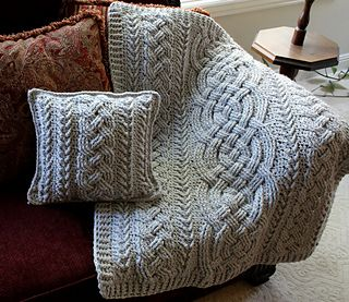 Ravelry: Irish Lullaby Cable Blanket pattern by Noelle Stiles
