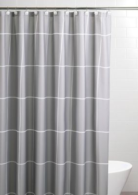 Sparrowhawk Landon 96 Inch Shower Curtain Set Gray White 96