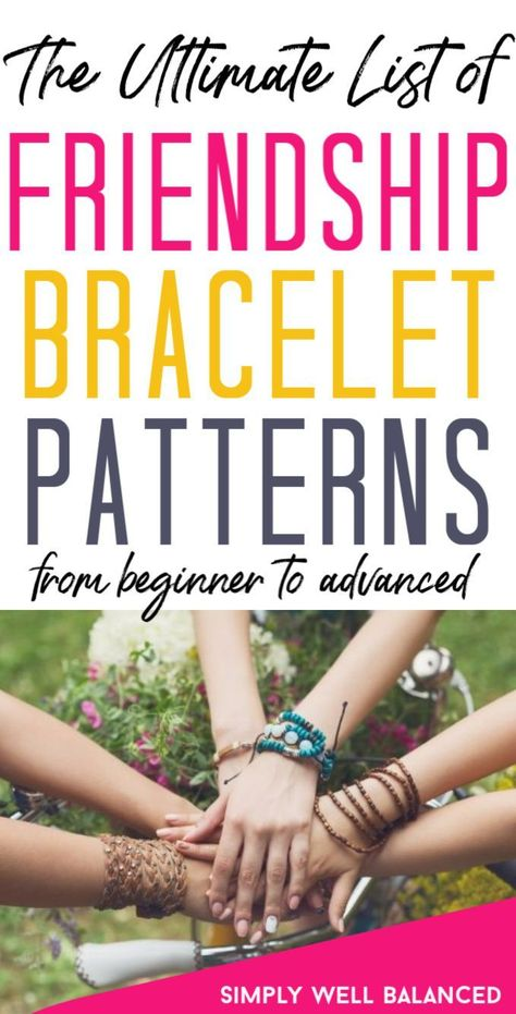 Want to learn how to make friendship bracelets? Click to find video tutorials for all of the DIY friendship bracelet patterns and designs you want to create. Start with the easy patterns and work your way up with these simple step by step ideas. | easy jewelry making ideas step by step friendship bracelets #friendshipbracelets #kidscrafts #familyfun #diy
