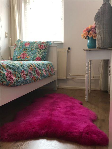 gezelligheid Roze schapenvacht #pipstudio...