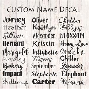 Gothic Font Name Decal Personalized Monogram Car Decal Laptop Decal Vinyl Lettering Yeti Cup Decal Yeti Cup Decal Custom Vinyl Lettering Name Stickers Vinyl Lettering