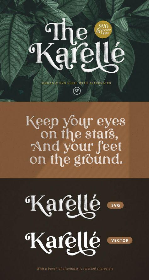 Karelle SVG - An Organic Serif Font
