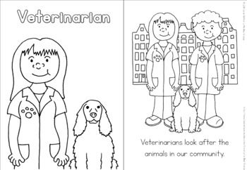 Community Helpers Coloring Book Veterinarian Community Helpers