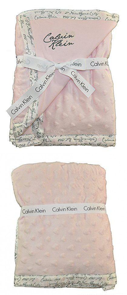 Calvin Klein Baby Girls Pink Fluffy Blanket Calvin Klein Baby Fluffy Blankets Pink Girl