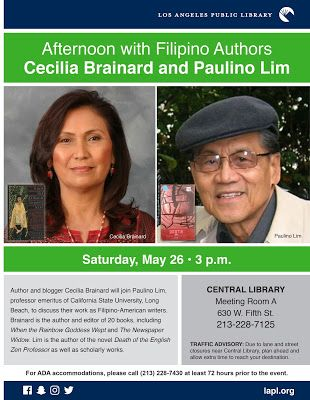 Afternoon with Filipino Atuhors Cecilia Brainard & Paulino