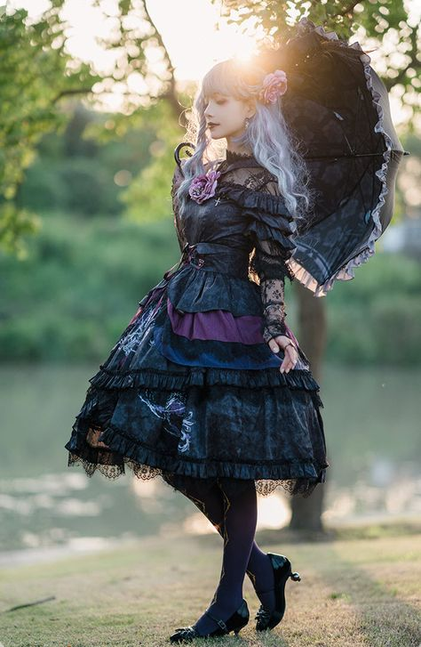New Release: 【-The Wild Witch-】 #GothicLolita JSK, Corset and Blouse