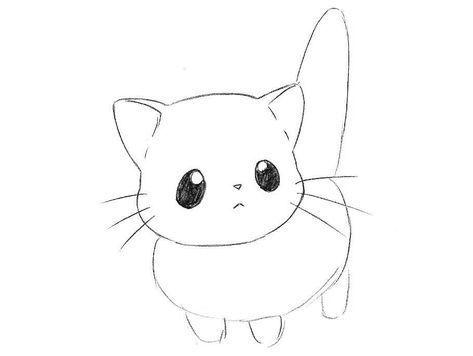 How To Draw Chibi Cat Step By Step Dessin Animais Desenhos