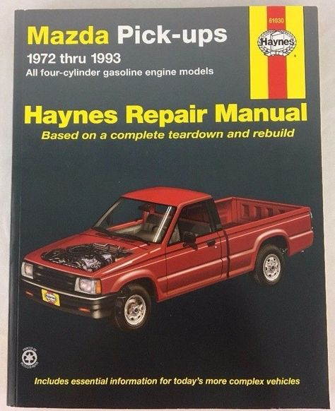Haynes Repair Manual 61030 Mazda Pick Up 4 Cylinder Gasoline Engine 1972 To 1993 Haynes Chevrolet Monte Carlo Repair Manuals Repair