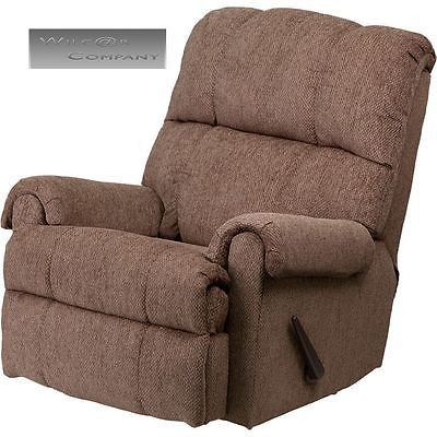 Beige Fabric Recliner Rocker Lazy Chair Furniture Seat Living Room